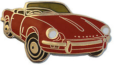 Triumph Spitfire MkIII car cut out lapel pin - Red