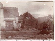 A690 Photographie Originale 1900 Luchon Vallée d'Oueil Pyrénées Maison détruite