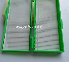 1pcs Microscope Slides Box Slide Storage Holds 50 Slides color randomly