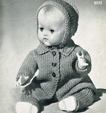 "Dolls clothes knitting pattern.14""-16"" doll. Laminated  copy (V Doll 97)"