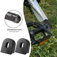 Bike Crank Protective Sleeve Bicycle Accessories Crankset Protector Kit (Black)