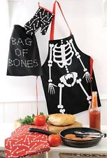 New Boys BAG OF BONES Chef Apron SET with BONUS Comes Packaged in a LIBRARY BAG