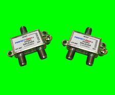 2x Diplexer DC Pass Dish DirecTV Combiner RF Cable Satellite Antenna 2-2300