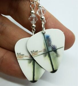 Blue October Approaching Normal Guitar Pick Earrings with Swarovski Crystals
