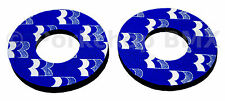 1988-89 Robinson old school BMX bicycle grip foam donuts BLUE (LICENSED)