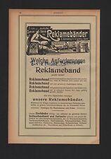 St. Ludwig Bâle, publicité 1908, E. Ammann & Cie. publicité BANDES-usine
