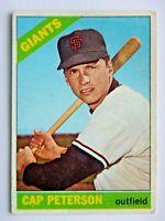Cap Peterson #349 Topps 1966 Baseball Card (San Francisco Giants) VG