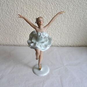 Rare Vintage Wallendorf Porcelain Swan Lake Ballerina Figure A/F