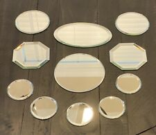 Small craft mirrors - 11 Pieces - Multiple Sizes And Shapes