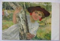 Künstlerkarte Robert Völcker, Kind, Übermut (30934)