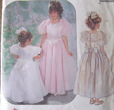 vintage sewing pattern Girl's 2 3 4 FANCY flowergirl  DRESS girly w/petticoat