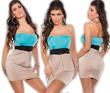Sexy Dress Party Evening Cocktail Mini Dress Bandeau Dress Party Dress türkis-bg