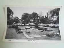 BLOXWICH, Park Side - Vintage Real Photo Postcard Pub. F W Hannah §B551