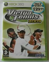 XBOX 360 Game Virtua Tennis 2009 PAL - Disc/Manual - Worldwide Shipping