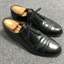 Cole Haan Mens City Size 10 D Black Leather Cap Toe Oxfords Shoe