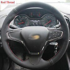 DIY Sewing-on PU Leather Steering Wheel Cover Exact Fit For Chevrolet Cruze 2015