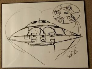 Bob Lazar Sport Model Sketch SOLD OUT PRINT! Signed by Bob Lazar.