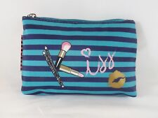 "Modella ""Kiss"" Zippered Purse Kit Cosmetic Travel Case Bag Pouch - New"