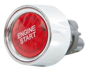 Universal Engine Push Start Button Ignition Switch Boat Stock Car Red UK 12v