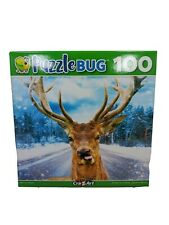 """Puzzle Jigsaw - 100 Piece DEER ON ROAD 8.75"""" x 11.25"""" Family Fun New Cra-Z-Art"""