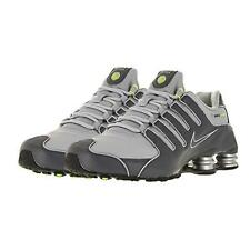 Nike Shox NZ Mens 378341-009 Dark Wolf Grey Volt Leather Sneakers * DOUBLE BOXED