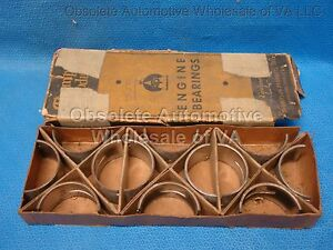 Lafayette Nash Big Six Nash 218 232 235 252 Rod Bearing Set 050 1933-1947 NORS
