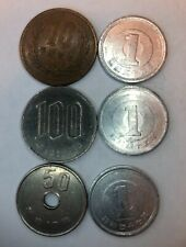 JAPANESE 6 COIN LOT