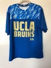 Mens Adidas Climalite UCLA Bruins Blue Short Sleeve Graphic Shirt - Size Large