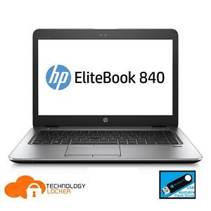 "HP Elitebook 840 G3 FHD Laptop 14"" Intel i7-6600U @2.60 8GB RAM 256GB SSD Win 10"