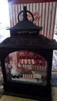 MAGICAL LIGHT UP CHRISTMAS LANTERN  WATER BALL SANTA  AT THE CANDY STORE 30CM