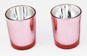 100 Rose Gold Glass Tealight Votive Candle Holder Wedding Event Party BULK BUY