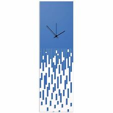 Surreal Wall Clock Techy Style Decor Abstract Accent Piece Blue Transparent CLK