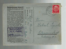 1941 Germany Dachau Concentration Camp Cover Litzmannstadt KZ Stanislaus Robert