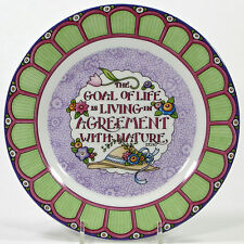 """Mary Engelbreit 2001 At Home With 8"""" Dessert Plate Goal Of Life Nature Garden"""
