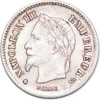 S5227 20 Centimes Napoléon III Tête Laurée Grand Module Silver - Faire Offre