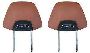 2X ORIGI Skin Headrest Merino Aragon Brown SEATS M5 8071313 BMW M5 F90 G30 G31