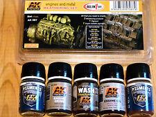 AK Interactive Engines And Metal Weathering Set Für Modelle