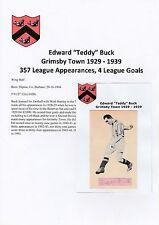 TEDDY BUCK Grimsby città 1929-1939 rara mano originale firmato di taglio
