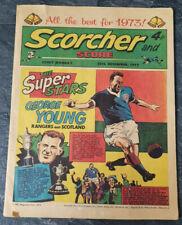 SCORCHER & SCORE Comic 30th Dec 1972 Cover Features George Young Glasgow Rangers