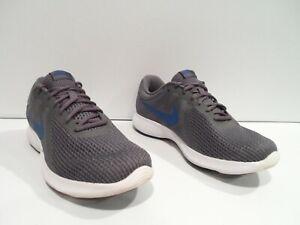 Nike Revolution 4 Men's Shoes Size 10.5 Gray Blue Running Athletic 908988-009