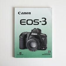 Canon EOS 3 SLR Instruction Manual