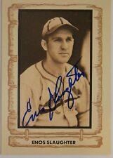 Enos Slaughter Cardinals HOF (d.02) 1981 Cramer Sports Autograph Baseball Card