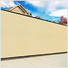 ColourTree 6' x 50' Beige Fence Privacy Screen Windscreen Cover Fabric Shade Tar