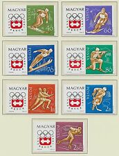 Hungary Sc 1548-54,B234 Nh imperf issue of 1963 - Sport - Olympics.