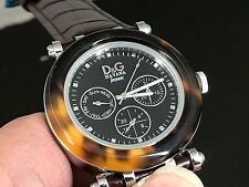 NEW OLD STOCK D&G DOLCE & GABBANA DAYDATE 24 HOURS DUAL TIME QUARTZ UNISEX WATCH