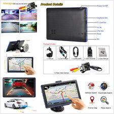 Car 7'' Capacitive Touch Screen GPS Navigation Sat Nav Bluetooth + Backup Camera