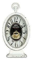 Horloge de Table Montre 14x27x9cm Stand métal blanc maison campagne Used Look