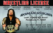 Roman Reigns wrestling novelty collectors card Drivers License wcw wwf wwe