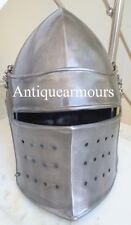 COLLECTIBLES KNIGHT CRUSADER VISOR BARBUTE ARMOUR HELMET HALLOWEEN