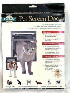 New PetSafe Pet Dog Cat Screen Door Small 1-30 lb Easy Install Opening 8 X 9-1/4